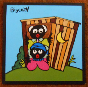 Grandma and Grandpa in the Outhouse by Biscuit-V - WAS $95 - NOW $70