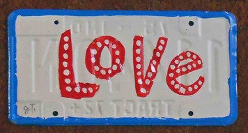 Love License Plate by John Taylor
