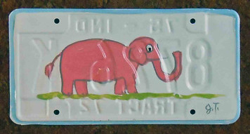 Elephant License Plate by John Taylor