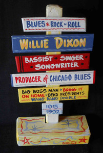 Willie Dixon - Chess Records Signpost by George Borum