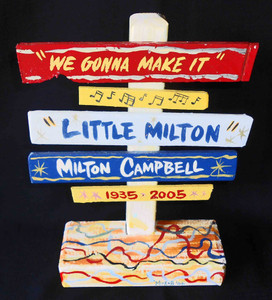 Little Milton Blues Man Signpost by George Borum
