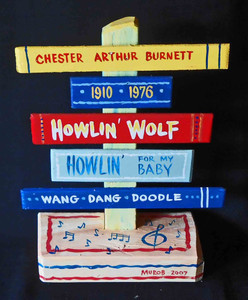 Howling Wolf Chess Recording Star Signpost by George Borum