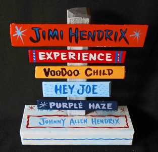 Jimi Hendrix Voodoo Child Signpost by George Borum