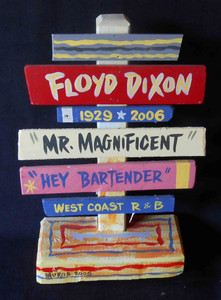 Floyd Dixon Bluesman Signpost by George Borum