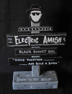 Electric Amish (A Real Indiana Band) Signpost - NOE $15