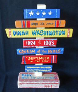 Dinah Washington Blues Diva Signpost  by George Borum