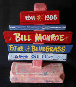 Bill Monroe Father of Bluegrass Signpost by George Borum
