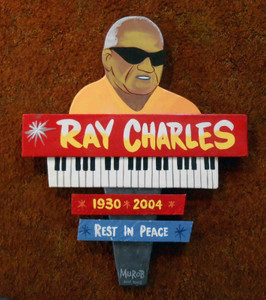 Ray Charles Large Tribute Wall Plaque
