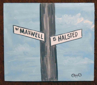 Maxwell St and Halstead St by Chicago Street Artist Otto-Was $15-Now$10