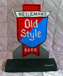Old  Style Beer Highway Signpost by Chicago Street Artist Otto