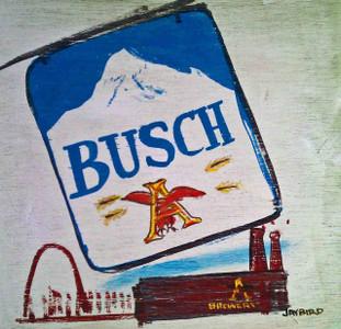 Busch  Beer Banner Sign & St Louis by Jaybird