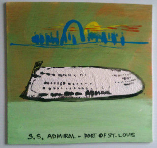 The Admiral  - World Famous Riverboat by St Louis Artist Jaybird
