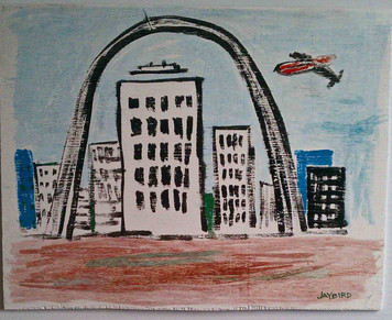 St Louis Arch painting by St. Louis Street Artist Jaybird