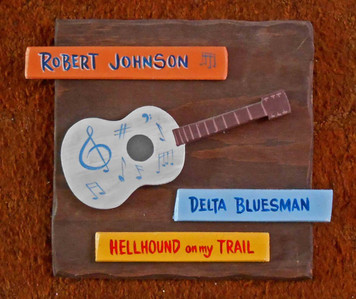 Robert Johnson Wall Plaque by George Borum