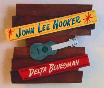 John Lee Hooker Wall Plaque by George Borum