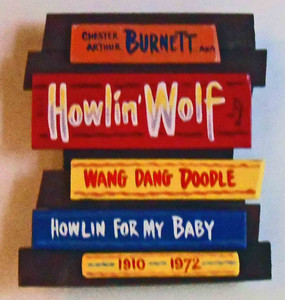 Howling Wolf Red Wall Plaque by George Borum