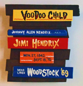 Jimi Hendrix Voodoo Child Wall Plaque by George Borum
