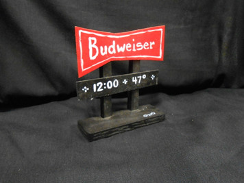 BUDWEISER HIGHWAY SIGN POST by Otto - WAS. $25 - NOW $10