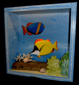 Tropical Fish 3-D Shadow Box by George Borum