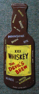 Devil's Brew Whiskey Bottle cut-out by George Borum