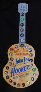 JOHN LEE HOOKER BOTTLE CAP GUITAR BY GEORGE BORUM
