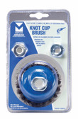 """2-3/4"""" dia x 5/8""""-11 x .020"""" Knotted Wire Cup Brush Mild Steel"""
