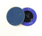 "2"" x 120 Grit Roloc Sanding Disc Blue Zirc"