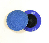 "2"" x 80 Grit Roloc Sanding Disc Blue Zirc"