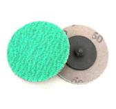 """2"""" x 60 Grit Roloc Sanding Disc Green Zirc USA"""