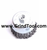 "4"" x 5/8""-11 x .020"" Knotted Wire Cup Brush Steel FITS 4.5"" GRINDER"