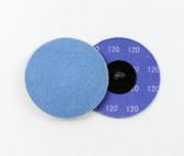 "3"" x 120 Grit Roloc Sanding Disc Blue Zirc"