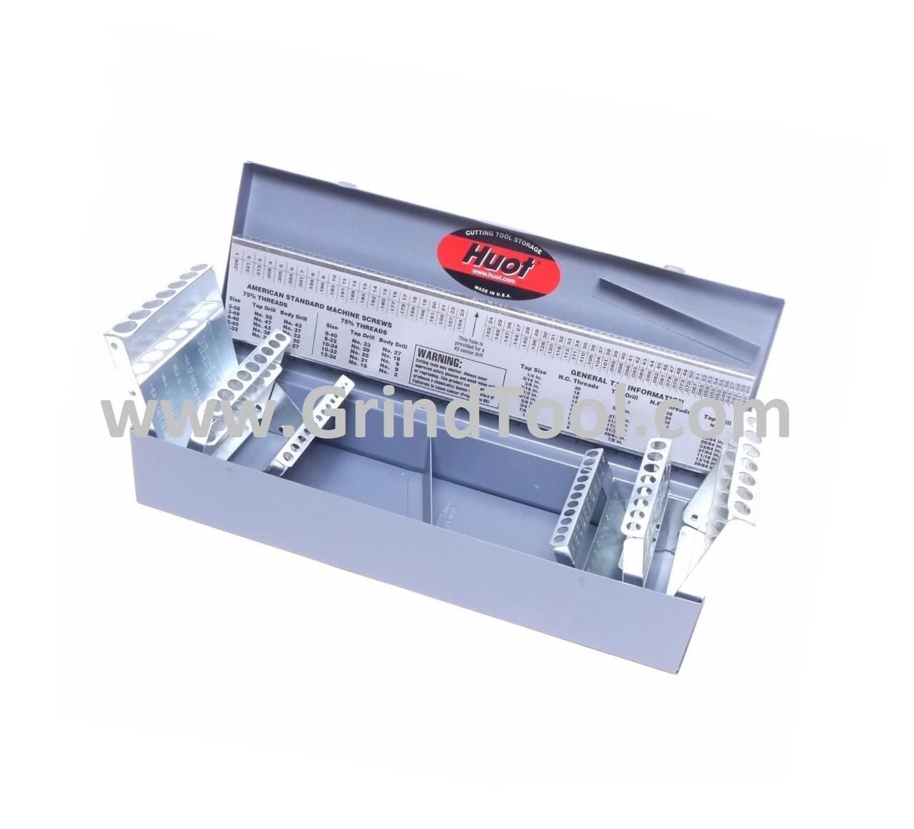 Empty Case 115 Piece Drill Bit Set W Huot Index