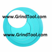 "12"" x 60 Grit PSA Sticky Sanding Disc USA Made Zirconia"