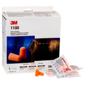3M Foam Earplugs 1100, Uncorded, 1000 Pair/Case