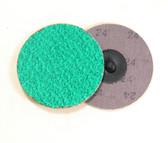 """3"""" x 24 Grit Roloc Sanding Disc Green Zirc"""