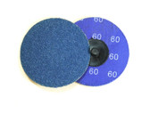 "3"" x 50 Grit Roloc Sanding Disc Blue Zirc"