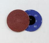 "3"" x 80 Grit Roloc Sanding Disc A/O"
