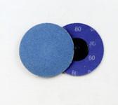 "3"" x 80 Grit Roloc Sanding Disc Blue Zirc"