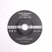 "4.5"" x .045"" x 7/8"" Type 27 Grind Tool Cut Off Wheel"