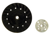 "4"" x 3/8""-24 Rubber Turbo Resin Fiber Disc Backing Pad"