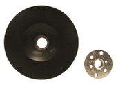 "5"" x 5/8""-11 Hard Plastic Resin Fiber Disc Backing Pad"