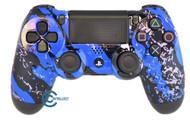 Blue Splatter PS4 Controller   Ps4