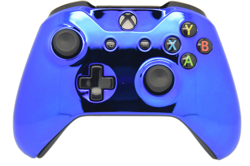 Blue Chrome Xbox One S Controller | Xbox One