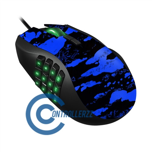 Blue Splatter Razer Naga    Razer Naga