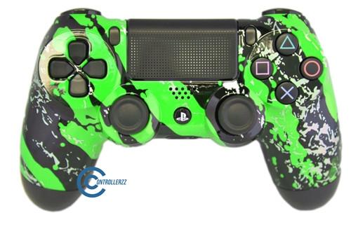 Green Splatter PS4 Controller | Ps4