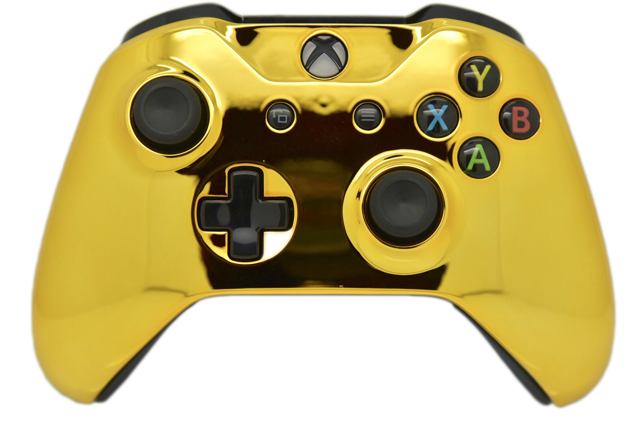 Gold Chrome Xbox One S Controller