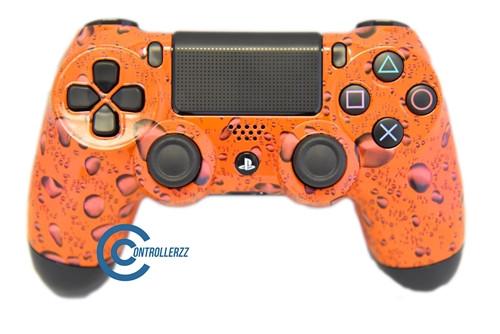 Orange Water Drop PS4 Controller   Ps4