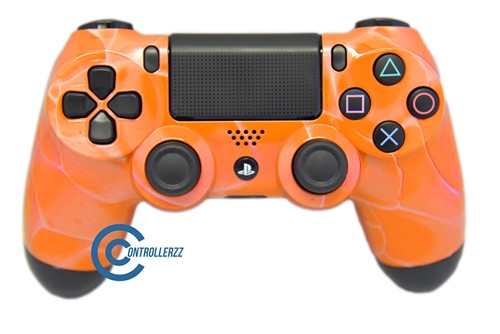 Orange Swirl PS4 Controller | Ps4