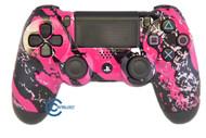 Pink Splatter PS4 Controller   Ps4