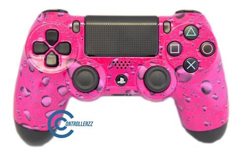 Pink Water Drop PS4 Controller   Ps4